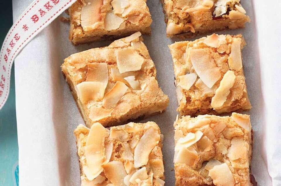 Coconut and White Chocolate Brownies