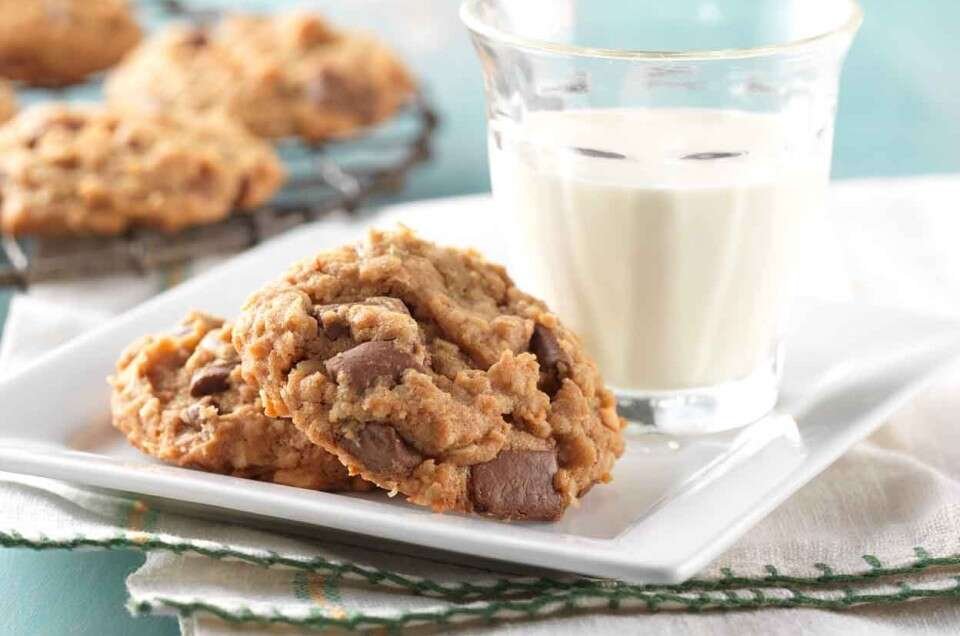 Milk Chocolate Chunk Peanut Butter-Oatmeal Cookies