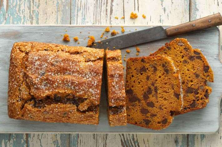 Easy Gluten-Free Pumpkin Bread made with baking mix