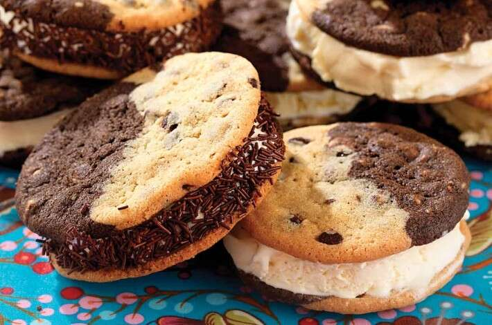 Split Decision Chocolate Chipper Ice Cream Sandwiches