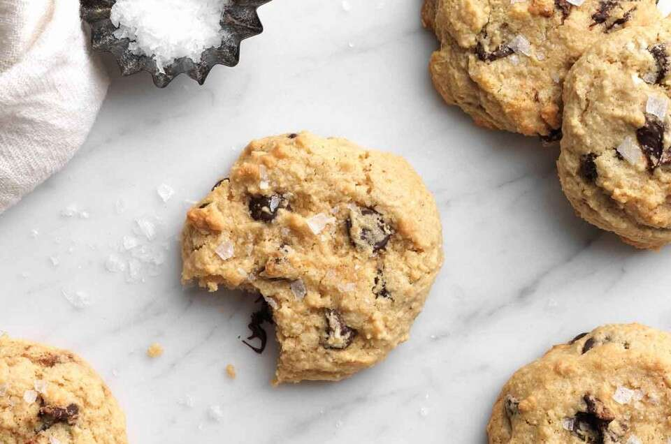 Gluten Free Almond Flour Chocolate Chip Cookies