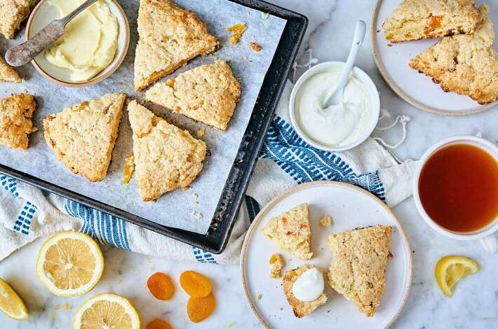 Buttermilk Lemon-Apricot Scones