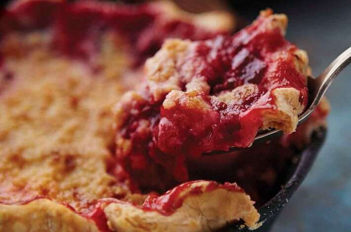 Gingered Plum Streusel Pie
