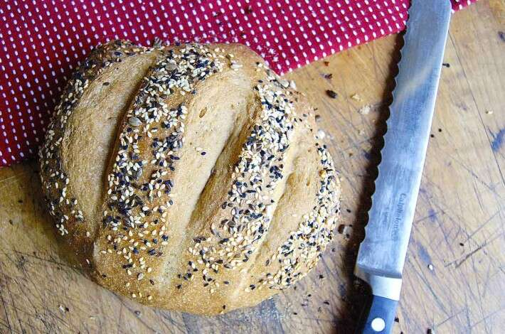 No-Knead Crusty Whole Wheat Bread