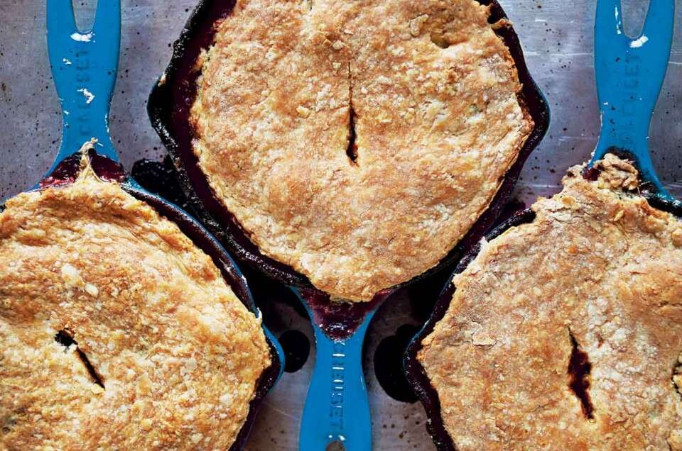 Duck, Date, and Rutabaga Pot Pie with a Duck-Fat Biscuit Crust