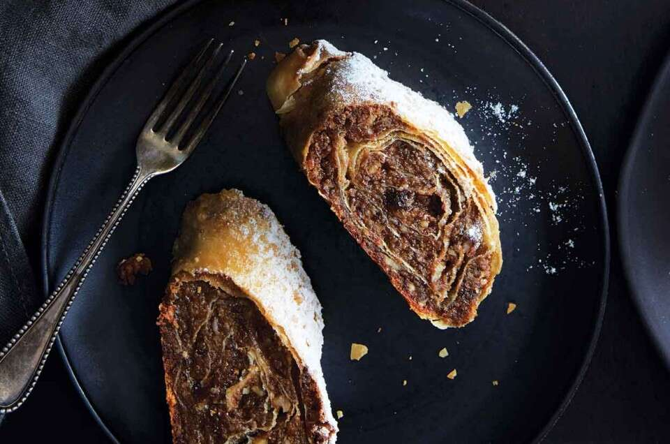 Cinnamon-Walnut Strudel