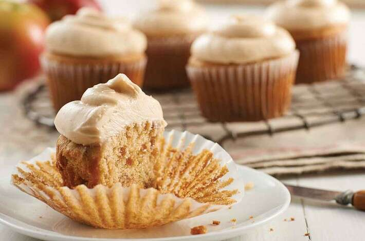 Apple Cinnamon Cupcakes with Cider Frosting