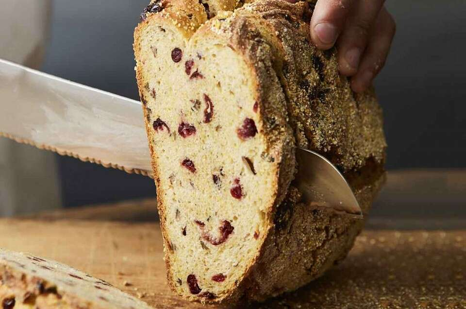 Wild Rice, Cranberry, and Cornmeal Sourdough