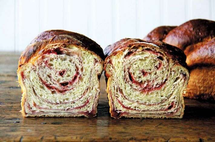 Strawberry Swirl No-Knead Brioche