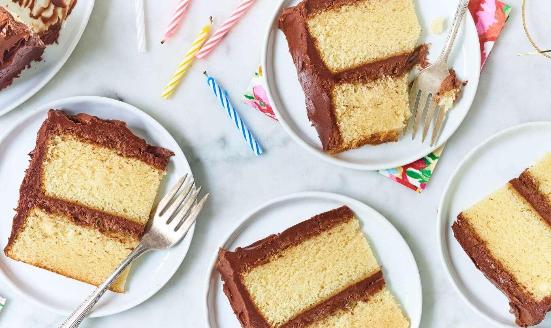 Incredible Classic Birthday Cake King Arthur Flour Funny Birthday Cards Online Unhofree Goldxyz