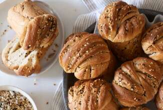 Seeded Babka Buns