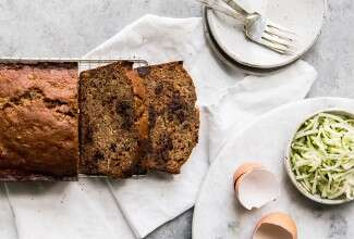 100% Whole Wheat Zucchini Chocolate Chip Bread
