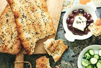 Hot Bread Kitchen's Nan-e Barbari (Persian Flatbread)