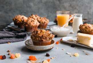 High-Fiber Fruit and Yogurt Muffins