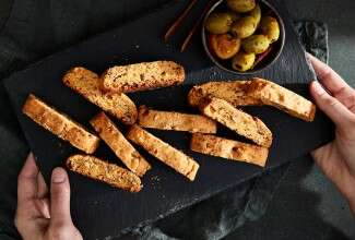 Savory Cheese Biscotti
