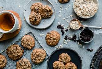 Soft and Chewy Oatmeal-Raisin Cookies