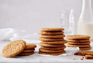 Gluten-Free Soft Molasses Cookies made with baking mix