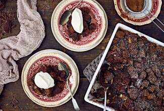Dark Chocolate Bread Pudding