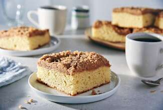 Gluten-Free Cinnamon-Streusel Coffeecake made with baking mix