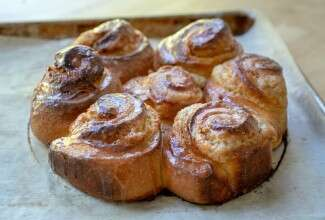 Brioche Cinnamon Rolls with Almond Cream