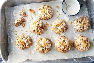 Orange Walnut Whole Wheat Scones