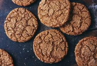Spiced Rye Ginger Cookies
