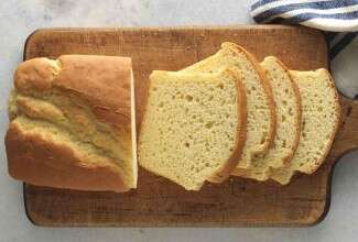 Sliced loaf of gluten-free sandwich bread