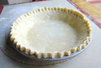Fluted pie crust in pan