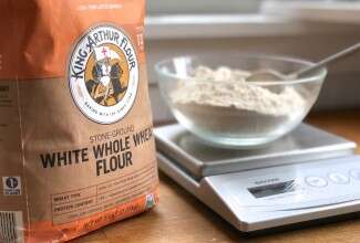 Bag of whole wheat flour