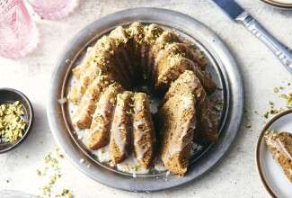 Cardamom Bundt Cake with Lemon Glaze