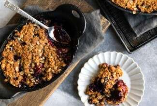 Cherry Berry Apple Crumble
