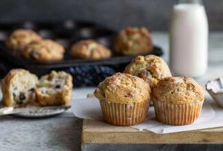 Gluten-Free Harvest Muffins made with baking mix