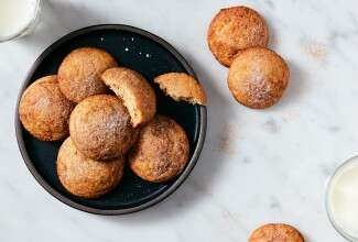 Soft Snickerdoodles made with baking sugar alternative