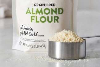 Almond flour in measuring cup