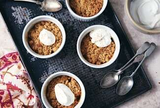 Individual Keto-Friendly Peach Crisp