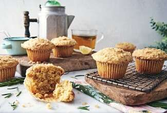 Rosemary Lemon Brown Butter Muffins