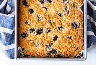 Paleo Lemon Blueberry Coffeecake