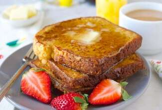 Coffee French Toast via @kingarthurflour
