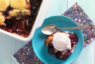 Almond Flour Berry Cobbler via @kingarthurflour