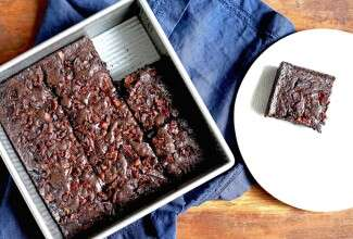Bacon brownies via @kingarthurflour