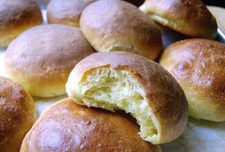 Cheese Brioche Buns via @kingarthurflour