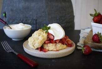Easy Strawberry Shortcake via @kingarthurflour