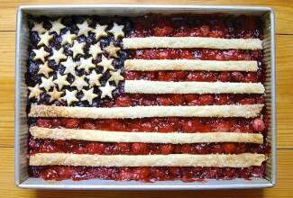 Flag cobbler via @kingarthurflour