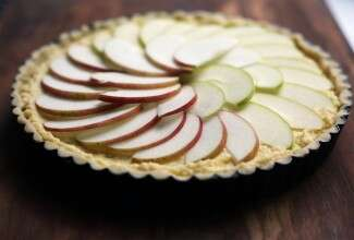 French apple tart via @kingarthurflour