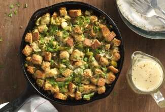 Gluten-Free Stuffing + Gravy Recipe via @kingarthurflour