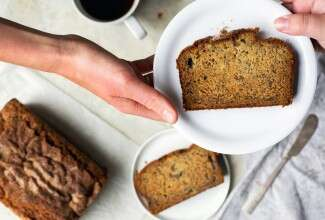 Gluten-free and vegan banana bread via @kingarthurflour
