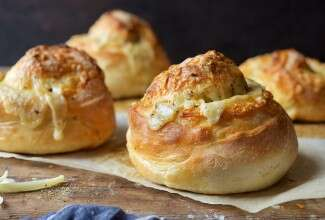 Gruyere Stuffed Crusty Loaves Bakealong via @kingarthurflour