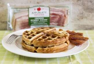 Maple-Bacon-Waffles via @kingartfhurflour