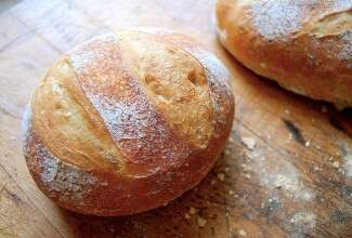 No Knead Crusty White Bread via @kingarthurflour