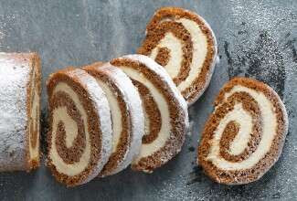 Pumpkin Cream Cheese Roll via @kingarthurflour